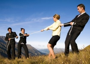 Business People on The Mountains